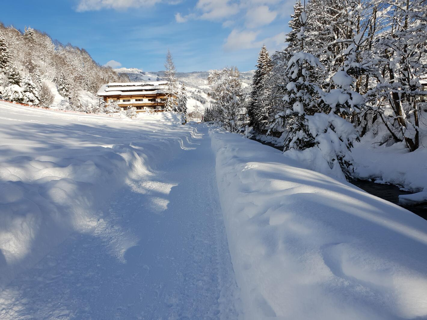 Winter Wanderweg Saalbach