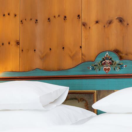 double bed in the Gartenhotel Theresia